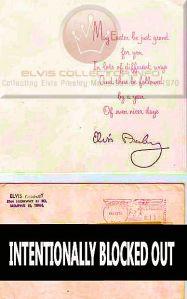 1964 Elvis Presley Easter Card