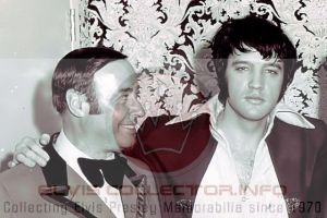 WMM 1970 Elvis with Emilio Muscelli who was matron of International HOtel