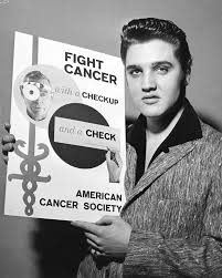 1957 Elvis holding fight cancer poster