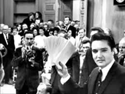 1962 Elvis handing out checks Memphis chariTY