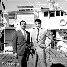 Elvis with Danny Thomas St. Jude in front of boat