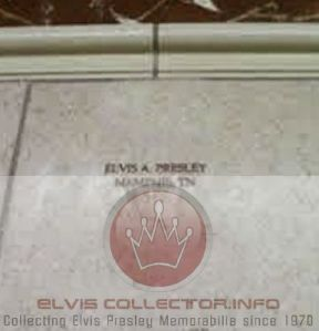 WM DOCUMENT Elvis Presley engraved stone on door StJudes Hospital