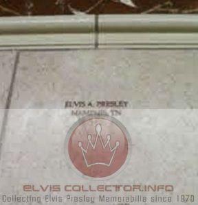WM DOCUMENT Elvis Presley engraved stone on door StJudes Hospital