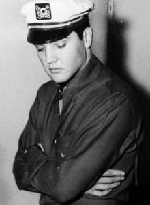 1961 candid head down Elvis sad looking