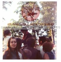 WM HORSEBACK 1969 side shot with many others getting autograph