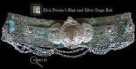RARE Elvis silver and blue belt