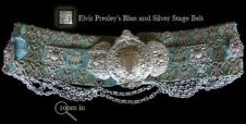 RARE Elvis silver and blue belt