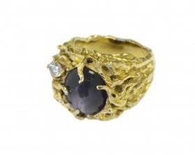 RARE ring blueish golden clasp