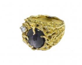 RARE ring blueish golden clasp