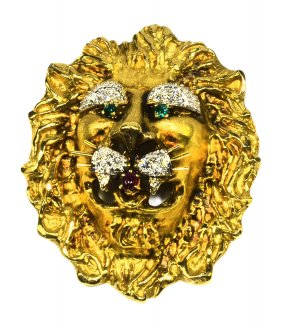 RARE Jewerly lion head golddiamonds