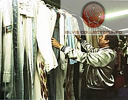 WM RARE 1977 Elvis jumpsuits on rack set up for last concert he died B4.png