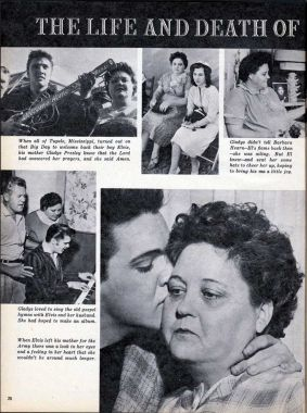 BIO article about life and death of Gladys Presley rare