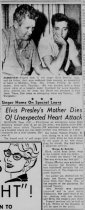 BIO Newspaper article of Elvis and Vernon right after Gladys died