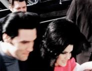 MOVING GIF Elvis with Priscilla 1968 Feb 5 with baby Lisa SOOOOO proud