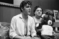 1956 elvis gladys holding teddy bear rare indeed