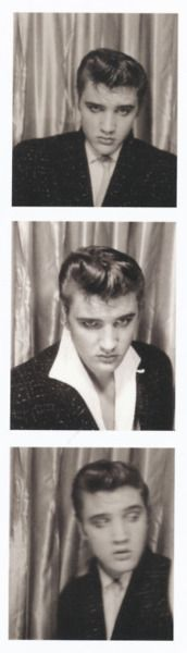 BIO 1955 3n1 of ELvis in photobooth smoothering
