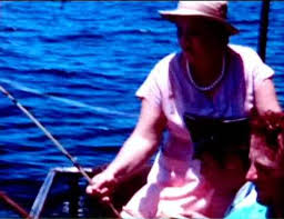 BIO 1956 Elvis with Gladys and Vernon fishing on boat