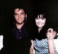 1967 Elvis with brunette fan looks like costar of his movie relaxed and happy Shelly Fabares
