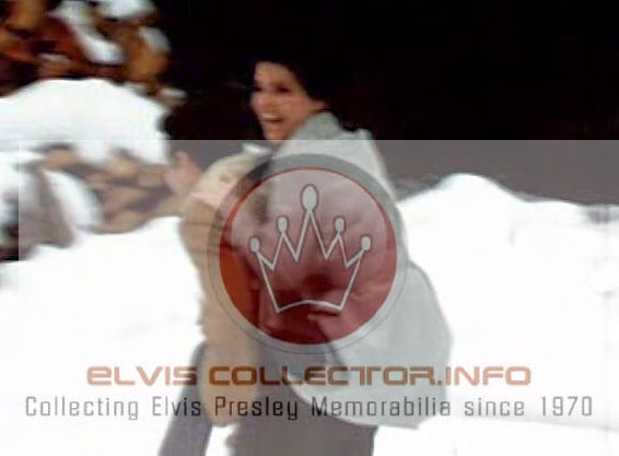 WM Elvis wtih Priscilla his back n snow