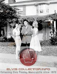 WM 1956 Jailhouse Rock candid Elvis between 2 women coolCNADY
