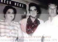 WM CHILDHOOD RARE Elvis standing with Gladys Vernon