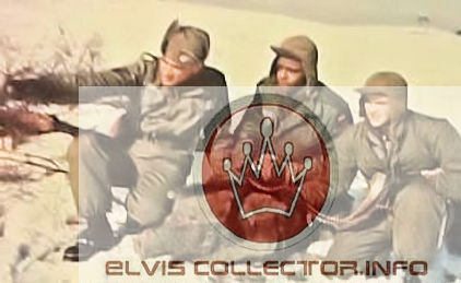 WM ARMY rare shot Elvis in snow 2 others E is pointing