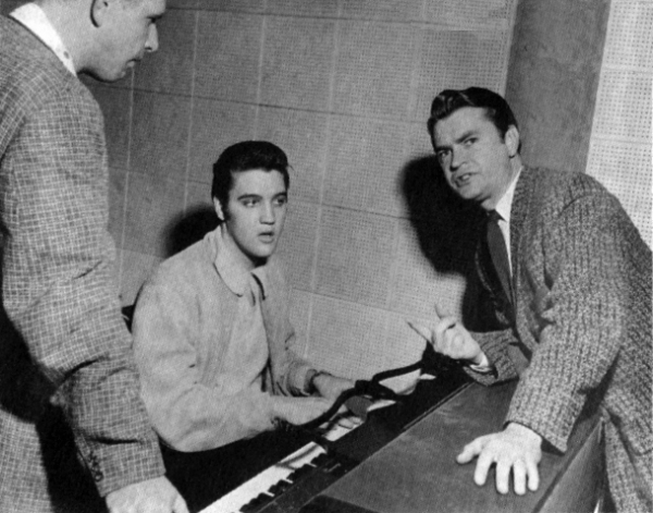 1956 or 57 Elvis at piano Sam Phillips